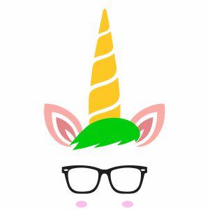 Unicorn With Sunglasses Vector