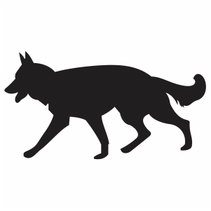 German Sheford Dog Svg