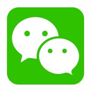 Wechat icon logo svg cut