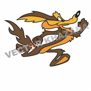 Wile E Coyote Running Logo Vector