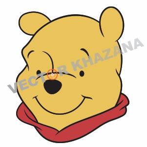 Winnie Pooh Face Logo Vector