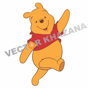 Happy Winnie Pooh Logo Vector
