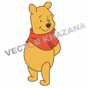 Sad Winnie Pooh Logo Vector