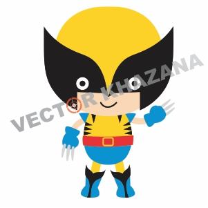 Chibi Wolverine Logo Vector Download
