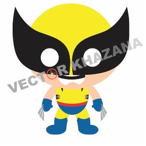 Wolverine Chibi Logo