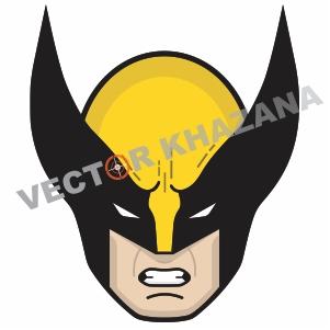 Face Wolverine Logo Vector