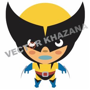 Chibi Wolverine Logo Vector