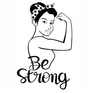 Women Power Be Strong vector