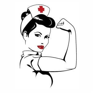 Nurse Woman Power vector file