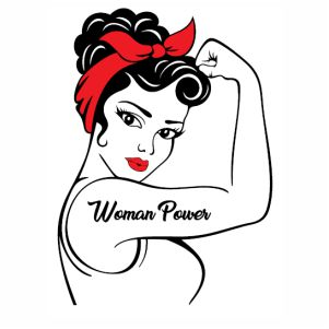 strong woman rosie the riveter svg cut file