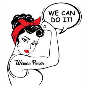 Women Power We Can Do It vector