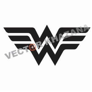 Wonder Woman Wings Logo Vector
