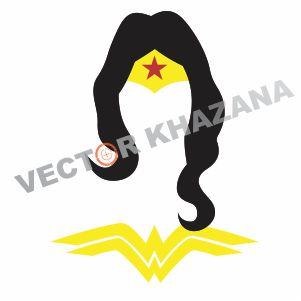 Wonder Woman Face Vector