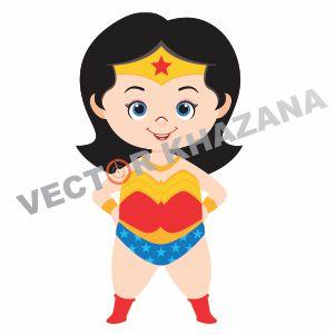 Chibi Wonder Woman Vector