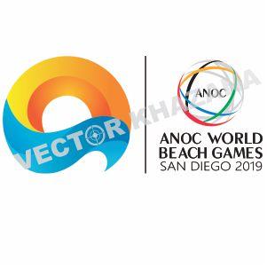 Anoc World Beach Games Logo Vector