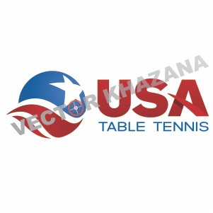 USA Table Tennis Logo Vector