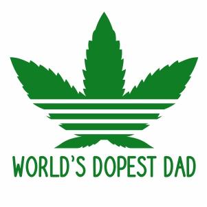 Worlds Dopest Dad Vector