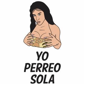 Yo Perreo Sola Women Vector